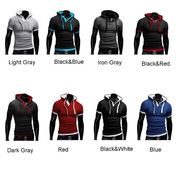 Short Sleeve Polo Hooded Shirts - HOT - Casual Shirts - eDealRetail - 10