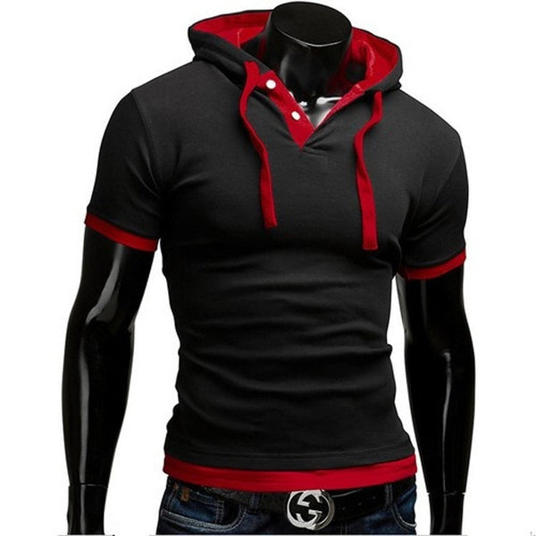 Short Sleeve Polo Hooded Shirts - HOT - Casual Shirts - eDealRetail - 4