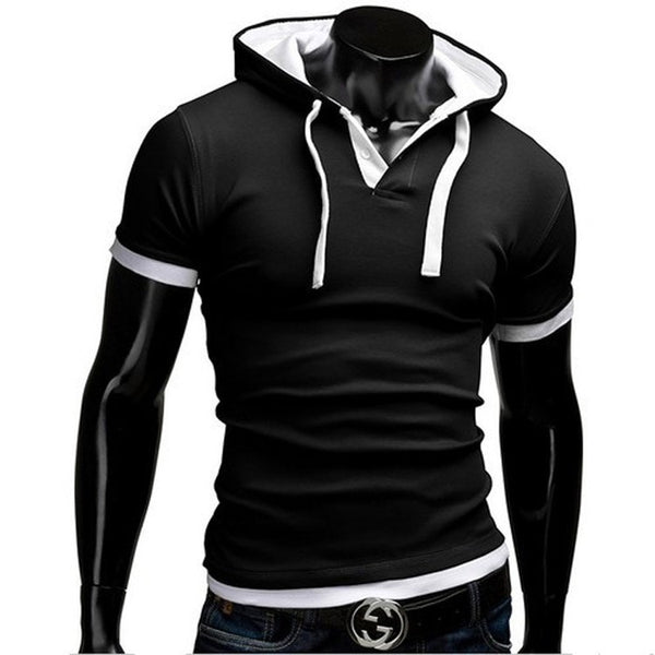 Short Sleeve Polo Hooded Shirts - HOT - Casual Shirts - eDealRetail - 2