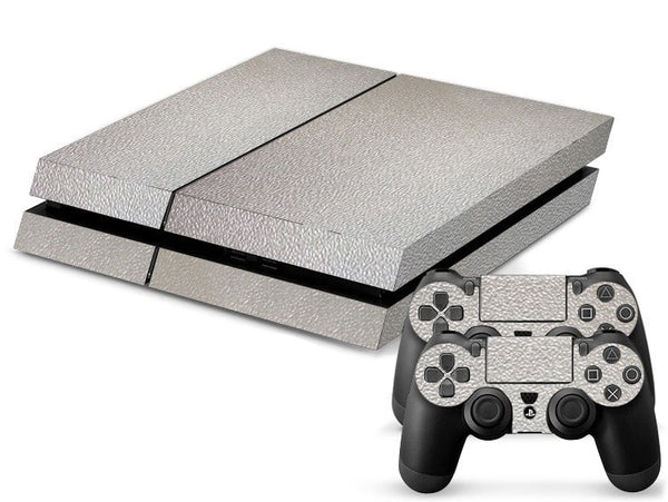 Silver Leather Print PS4 Skin + 2 Controller Skins - PS4 Skins - eDealRetail - 1
