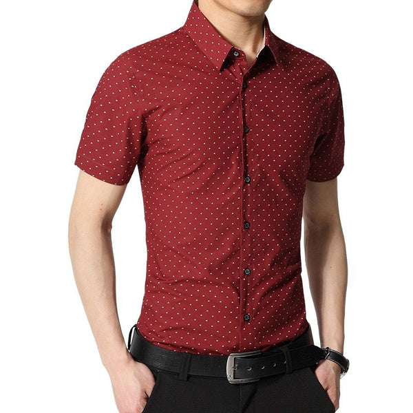 Spotted Print Fashionable Summer Shirts - Casual Shirts - eDealRetail - 5