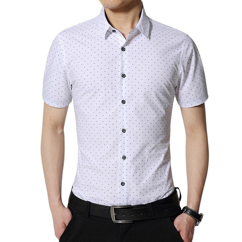 Spotted Print Fashionable Summer Shirts - Casual Shirts - eDealRetail - 1