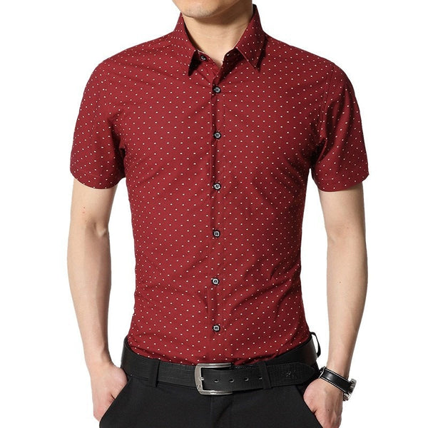 Spotted Print Fashionable Summer Shirts - Casual Shirts - eDealRetail - 3