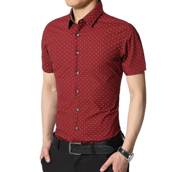 Spotted Print Fashionable Summer Shirts - Casual Shirts - eDealRetail - 4