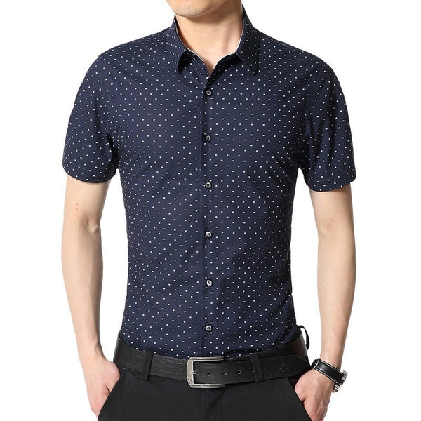Spotted Print Fashionable Summer Shirts - Casual Shirts - eDealRetail - 2