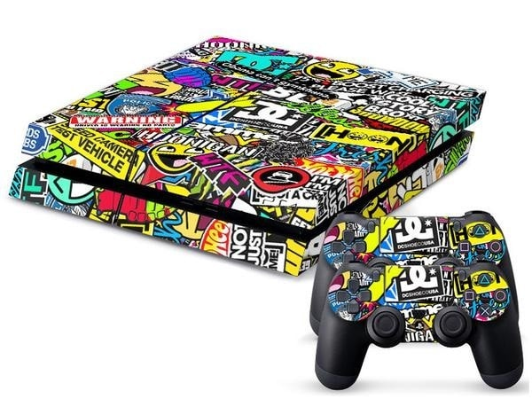 Sticker Art PS4 Skin + 2 Controller Skins - PS4 Skins - eDealRetail - 1