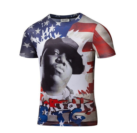 The Notorious BIG USA Print Shirt - 3D T-Shirts - eDealRetail