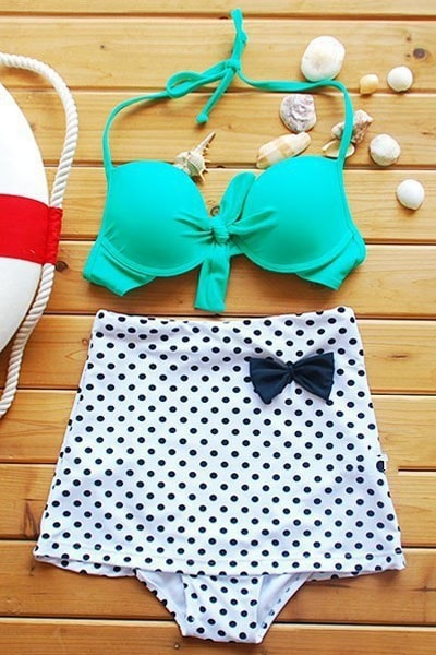 Polka Dot Bottom Summer Swimsuit - Swimsuit - eDealRetail - 5