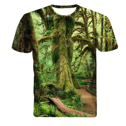 Tree Forrest Short Sleeve 3D Shirt - 3D T-Shirts - eDealRetail - 1
