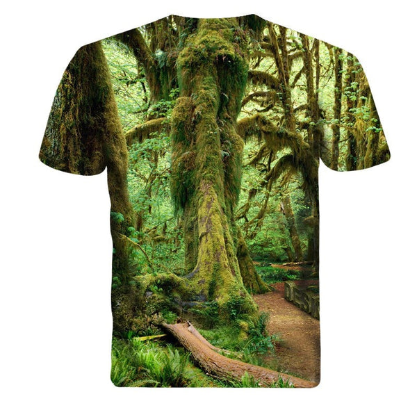 Tree Forrest Short Sleeve 3D Shirt - 3D T-Shirts - eDealRetail - 2