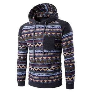 Tribal Print Pocket Raglan Hoodie - Hoodies - eDealRetail - 8