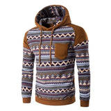 Tribal Print Pocket Raglan Hoodie - Hoodies - eDealRetail - 4