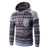 Tribal Print Pocket Raglan Hoodie - Hoodies - eDealRetail - 5