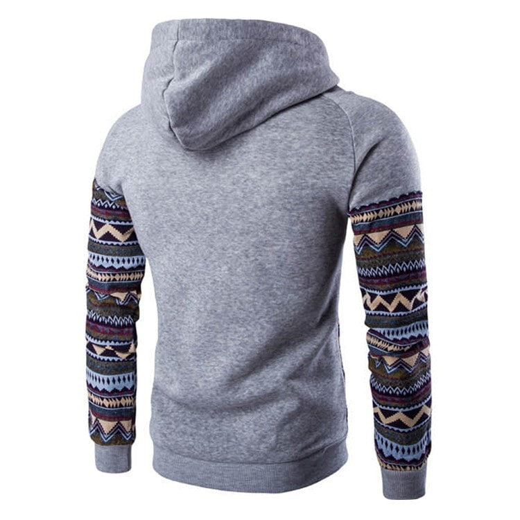Tribal Print Pocket Raglan Hoodie - Hoodies - eDealRetail - 9