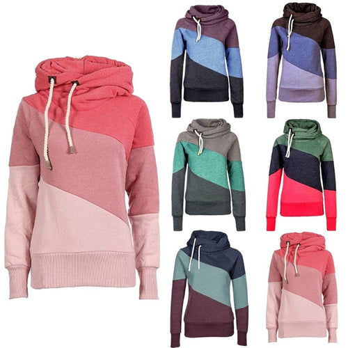 Women's Color Block Pullover Hoodies - Hoodies - eDealRetail - 1