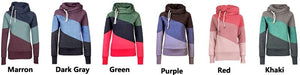 Women's Color Block Pullover Hoodies - Hoodies - eDealRetail - 8