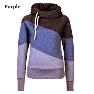 Women's Color Block Pullover Hoodies - Hoodies - eDealRetail - 3