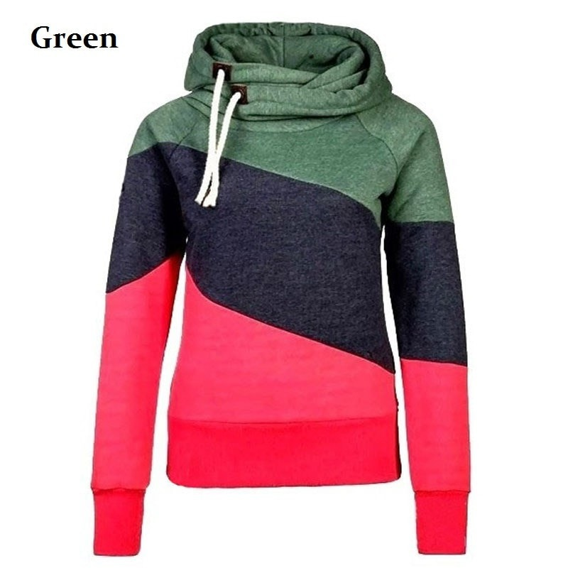 Women's Color Block Pullover Hoodies - Hoodies - eDealRetail - 4