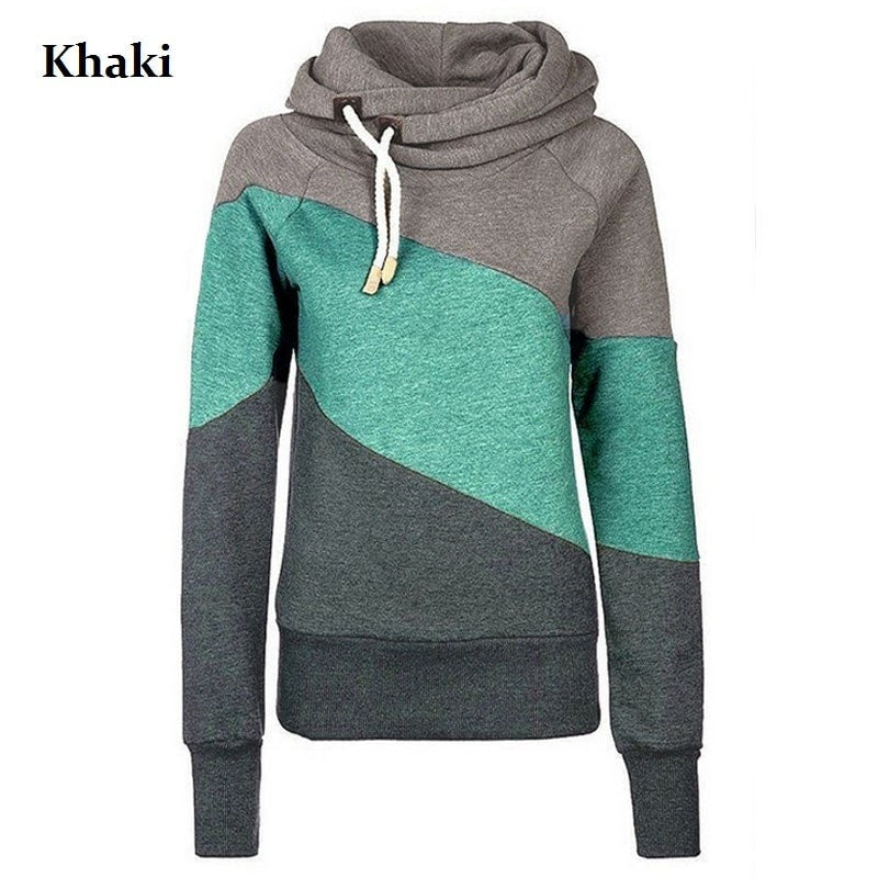 Women's Color Block Pullover Hoodies - Hoodies - eDealRetail - 5