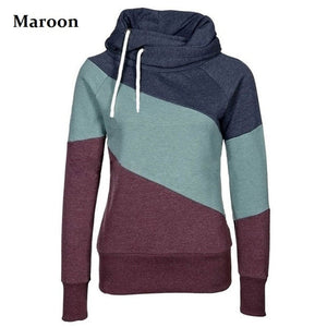 Women's Color Block Pullover Hoodies - Hoodies - eDealRetail - 7