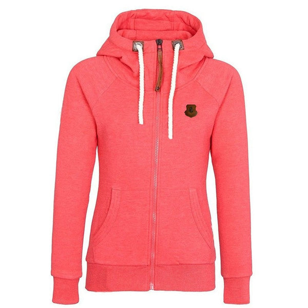 Women's Drawstring Zipper Hoodies - Hoodies - eDealRetail - 3