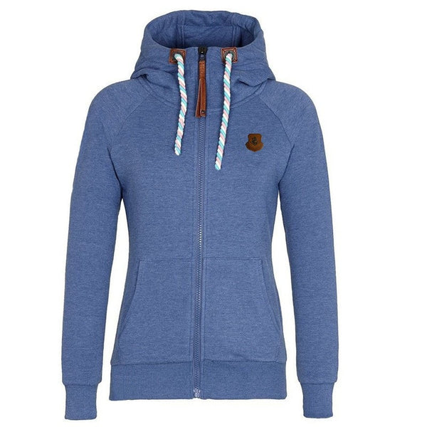Women's Drawstring Zipper Hoodies - Hoodies - eDealRetail - 4