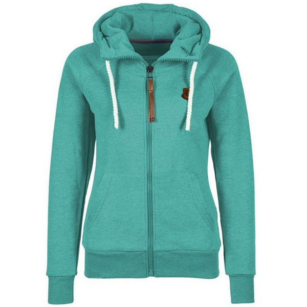 Women's Drawstring Zipper Hoodies - Hoodies - eDealRetail - 8