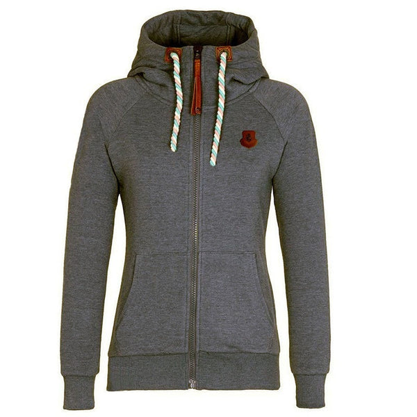 Women's Drawstring Zipper Hoodies - Hoodies - eDealRetail - 9