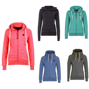 Women's Drawstring Zipper Hoodies - Hoodies - eDealRetail - 1