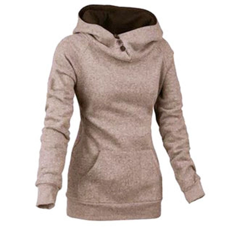 Women's High Collar Button Sweatshirts - Hoodies - eDealRetail - 6