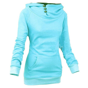Women's High Collar Button Sweatshirts - Hoodies - eDealRetail - 5