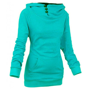 Women's High Collar Button Sweatshirts - Hoodies - eDealRetail - 4