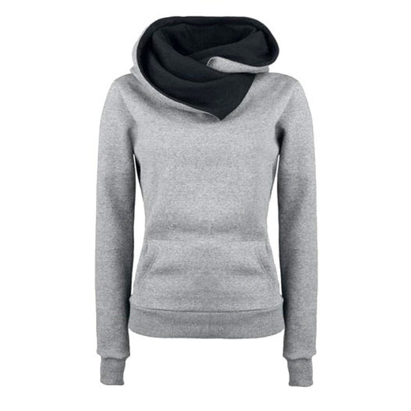 Women's High Collar Stylish Sweatshirt - Hoodies - eDealRetail - 3