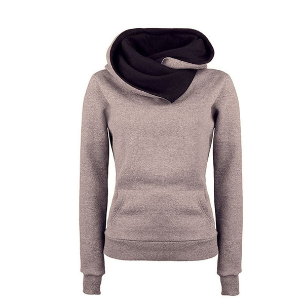 Women's High Collar Stylish Sweatshirt - Hoodies - eDealRetail - 5