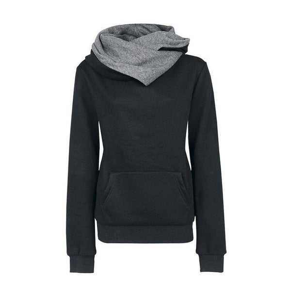 Women's High Collar Stylish Sweatshirt - Hoodies - eDealRetail - 4