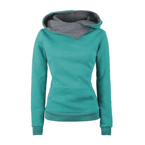 Women's High Collar Stylish Sweatshirt - Hoodies - eDealRetail - 6