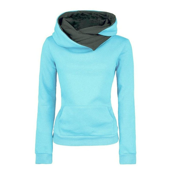 Women's High Collar Stylish Sweatshirt - Hoodies - eDealRetail - 2