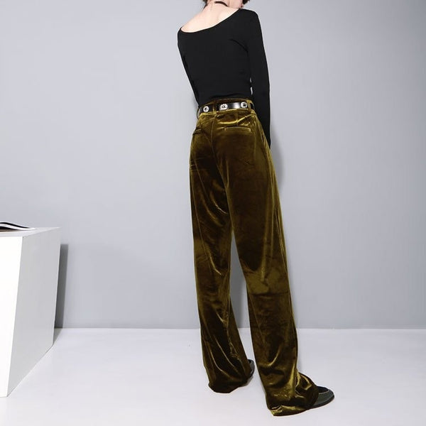 2016 Women's High Waisted Velvet Pants - Women's Pants - eDealRetail - 4