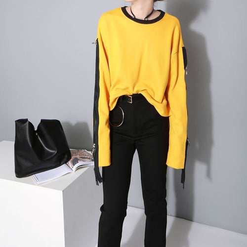 Zipper Sleeve Extra Long Sleeve Shirts - Shirts - eDealRetail - 1