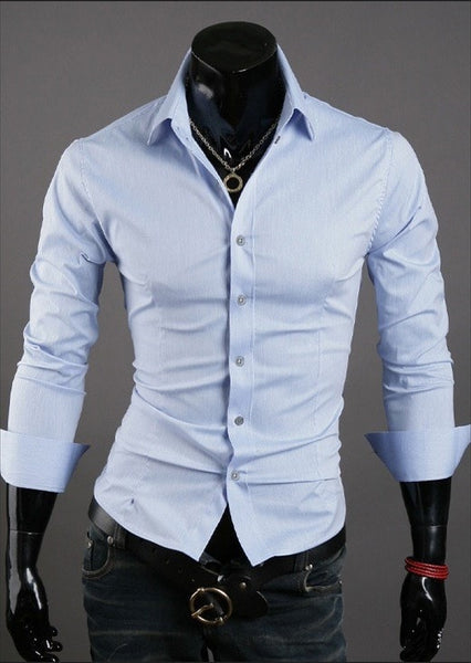 Formal Shirts For Men - 10 Color Casual Dress Shirts - Dress Shirts - eDealRetail - 6