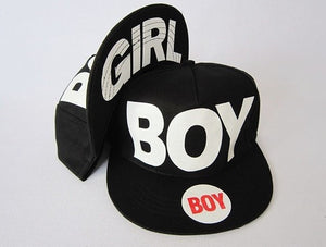 Boy/Girl Black Adjustable Snapback Hat - Hats - eDealRetail - 1