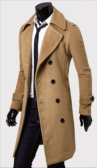 great look great deals super cute Men's Trench Coat