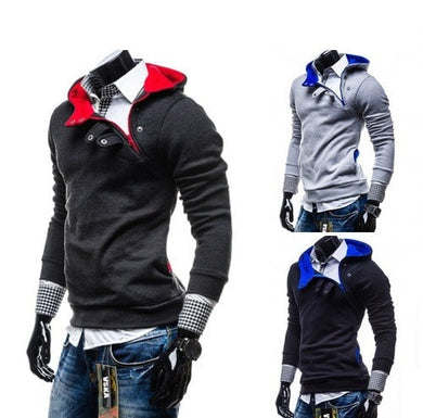 2016 Button Side Zip Hoodie - Hoodies - eDealRetail - 1