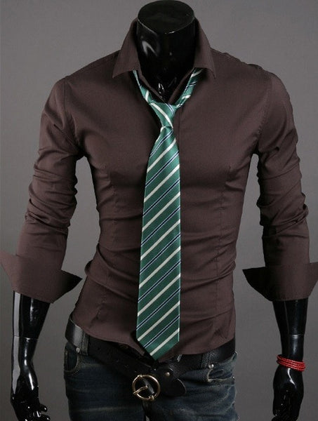 Formal Shirts For Men - 10 Color Casual Dress Shirts - Dress Shirts - eDealRetail - 8