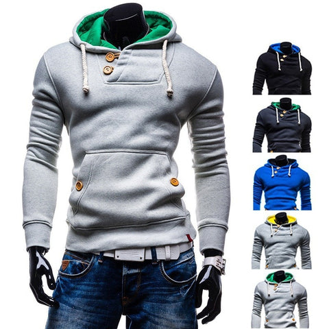 2017 Double Button Hoodie - Hoodies - eDealRetail - 1