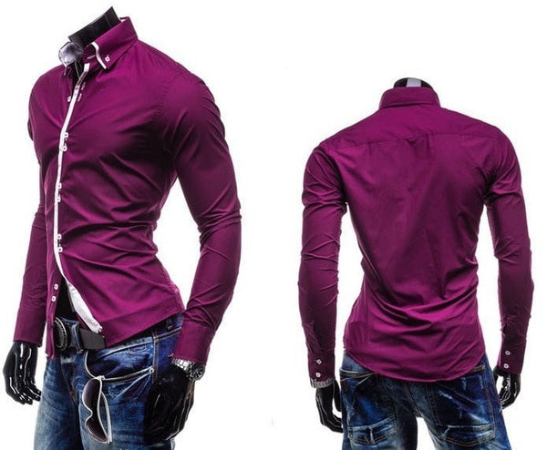 Double Collar Stylish Dress Shirts - Dress Shirts - eDealRetail - 5