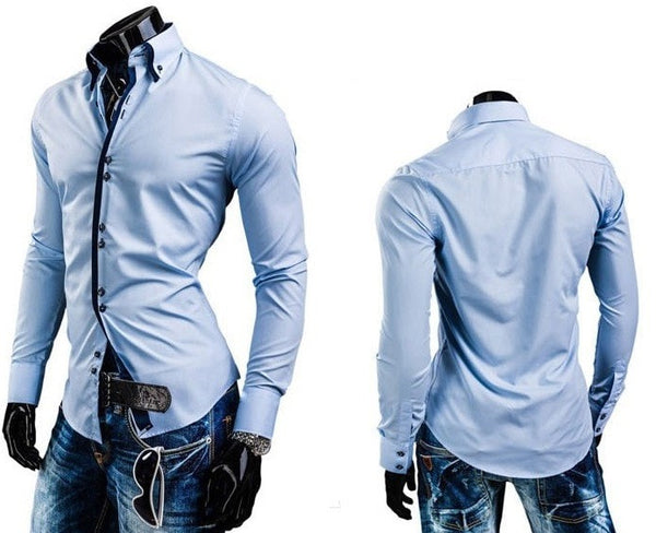 Double Collar Stylish Dress Shirts - Dress Shirts - eDealRetail - 7