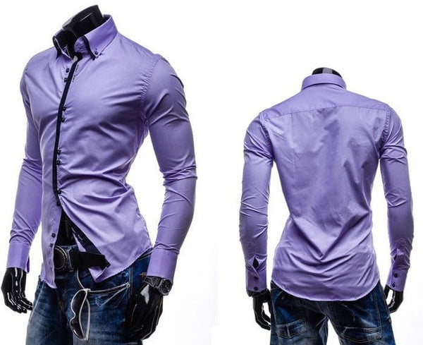 Double Collar Stylish Dress Shirts - Dress Shirts - eDealRetail - 8