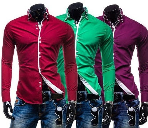 Double Collar Stylish Dress Shirts - Dress Shirts - eDealRetail - 10