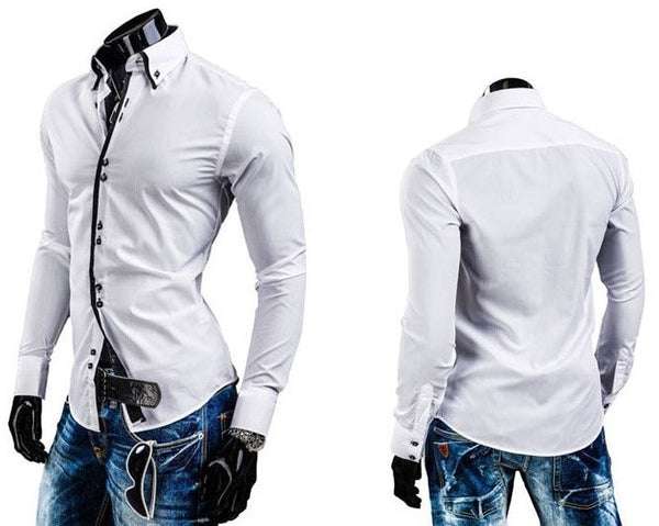 Double Collar Stylish Dress Shirts - Dress Shirts - eDealRetail - 2